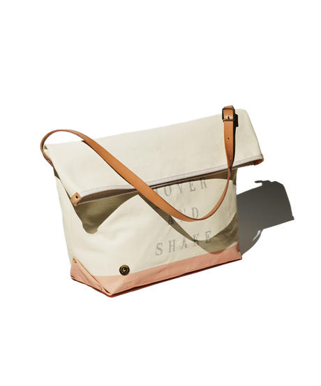 Sunset Craftsman Co. / Pine Shoulder Bag (M) / Milk x M&S Original Orange