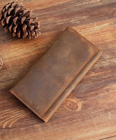 本革 ブレストウォレット 長財布 折り財布 ロングウォレット メンズ