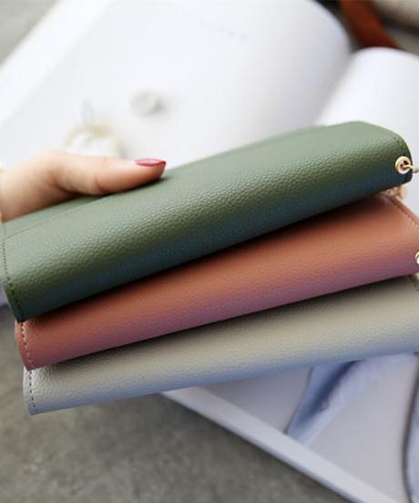 長財布 レディース  大容量 手作り手縫い収納長財布002
