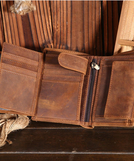 メンズ 財布 二つ折り 本革 職人が手作り プレゼント カーフレザー