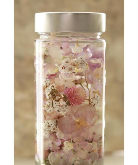 紫陽花と小花のハーバリウム/ルミエールドライフラワー Hb-01