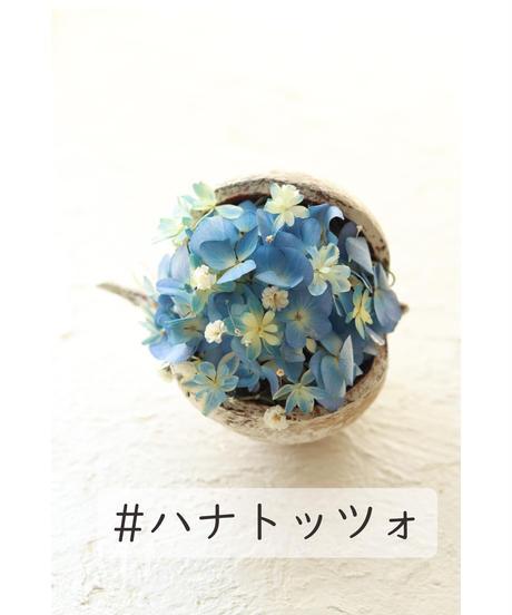 ブッダナッツの紫陽花アレンジメント/ルミエールドライフラワー /ハナトッツォ BN-02