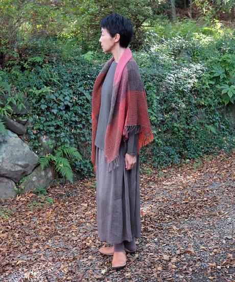 かけ布 ふくふく格子 ピンクレッド 5016R