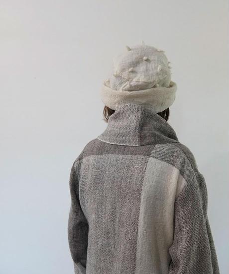 ねじり帽子 ぷつぷつ 白 8203W