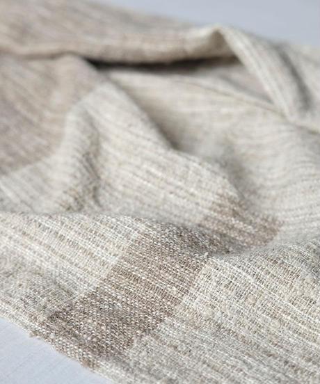 マフラー 混紡マフラーつづら織り ナチュラルベージュ 4317W