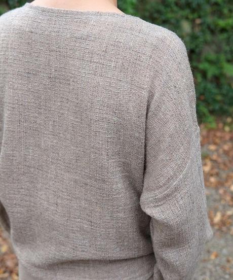ブラウス ふくふくプルオーバー シルク&ウール グレー 6546FG