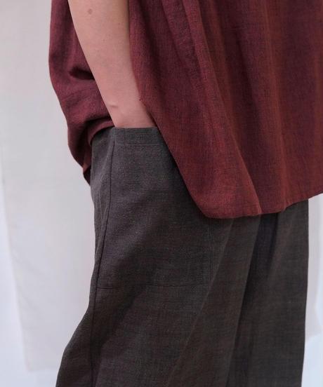 カディ パンツタックポケット チャコール K6854C