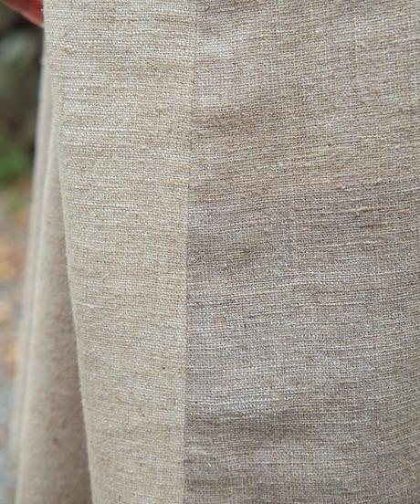 チュニック サイドポケット 秋格子 グレー 6975wkG