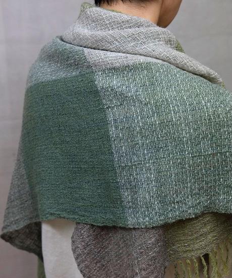 かけ布 ふくふく格子 グリーン 5016Gr