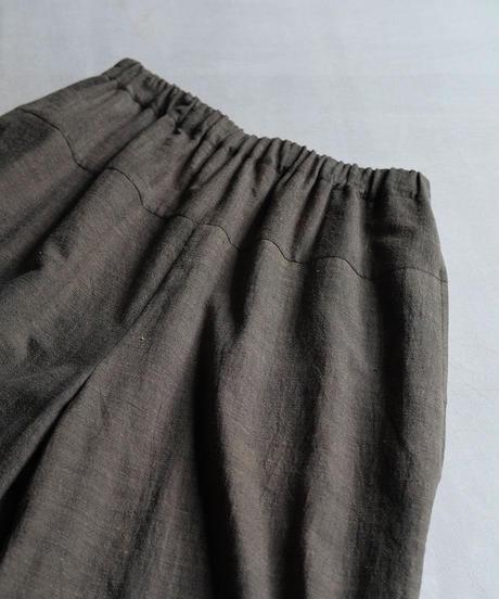 カディ パンツショートワイド チャコール K6857C