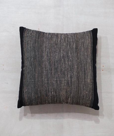 クッション 小布綴り 黒 40cm角 中綿付き 8805B