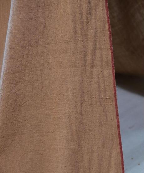 カディ反物 有機茶綿 耳赤 9649R
