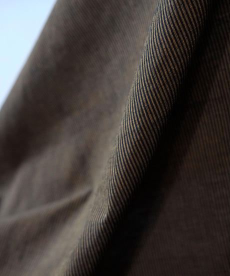 マンガルギリ反物 黒×山吹色ストライプ 9644STBY