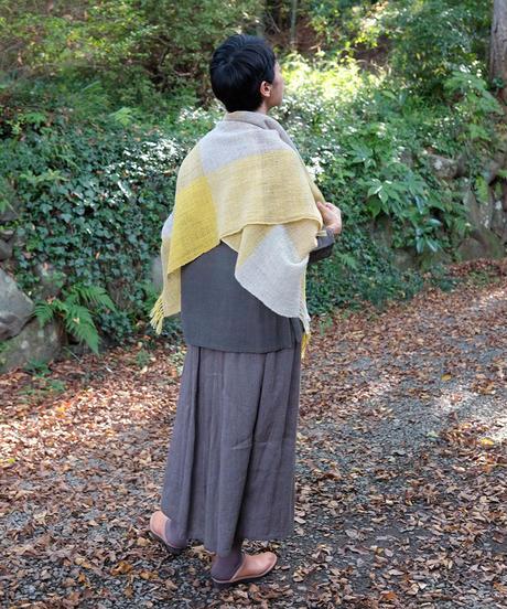 かけ布 ふくふく格子 イエロー 5016Y