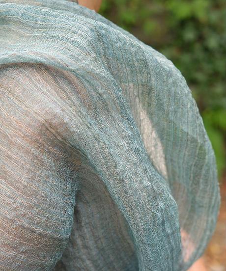 ストール 苧麻 藍の半発酵染め 1250BI