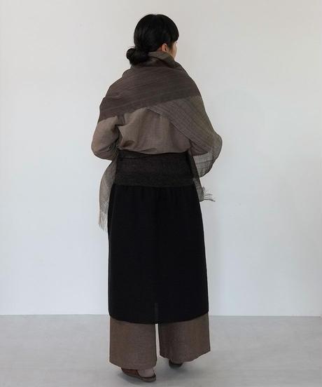 ストール デュピオン綾 チャコールグレー 1030G