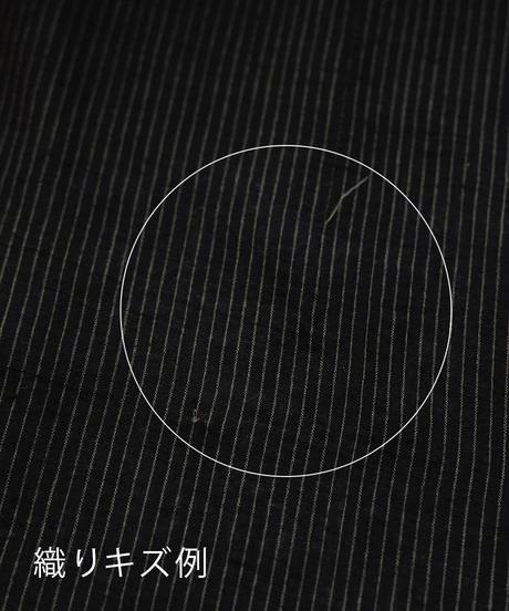 マンガルギリ反物 黒×カーキピンストライプ 9644STB