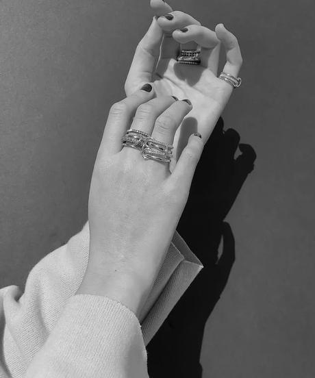 4連 Stone Gold Ring