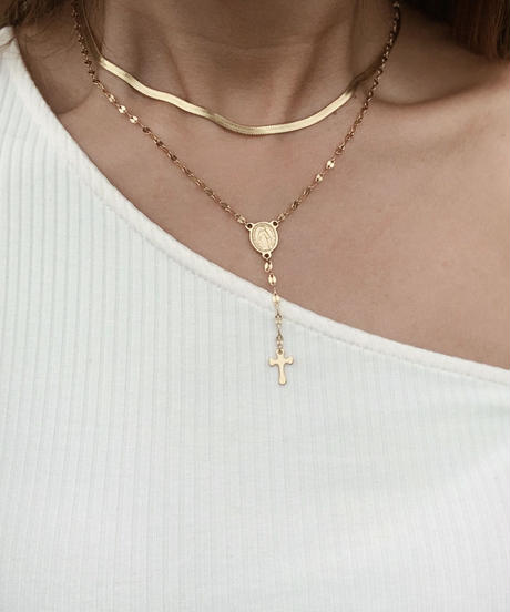 Maria gold necklace