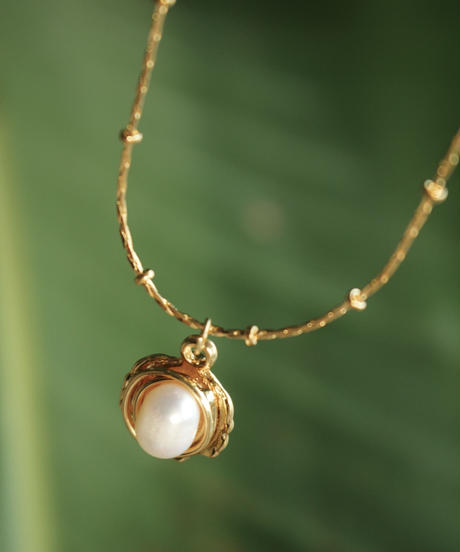 Seashell & pearl necklace