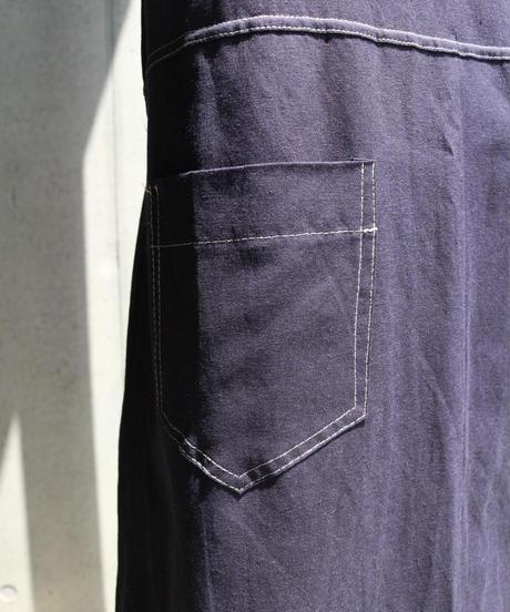 [再入荷] Stitch Flare Denim Design Onepiece