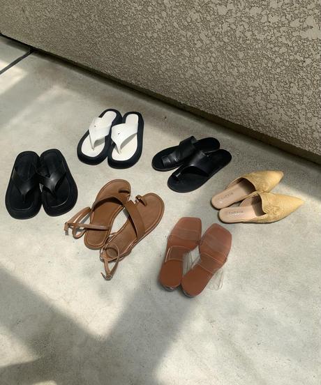 Clear round Design Sandal