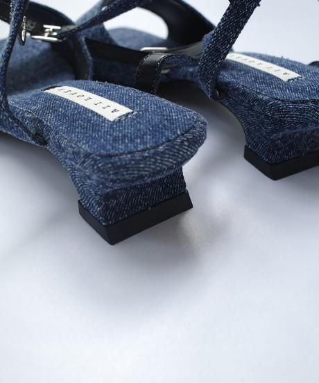 Denim Square Sandal