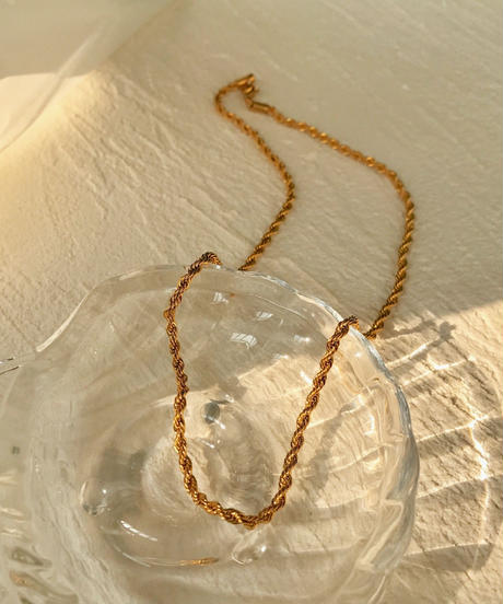 Stainless Torsion necklace