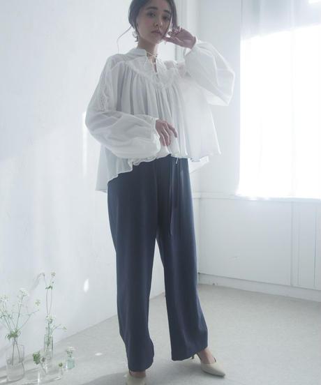 3ren ribbon blouse ( white )