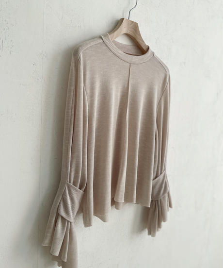 lib band sleeve cut and sewn (light beige) <21sp-to-02-lb>