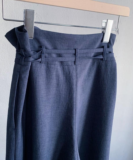 double ribbon wide pants ( navy ) <20ss-pt-01-na>