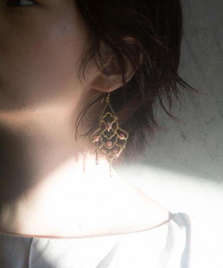 chandelier series vol.4 pierce & earring (brass) <20as-ac-01-br-p/e>