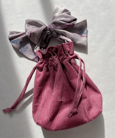 seasonal letter drawstring bag <20as-ac-02>