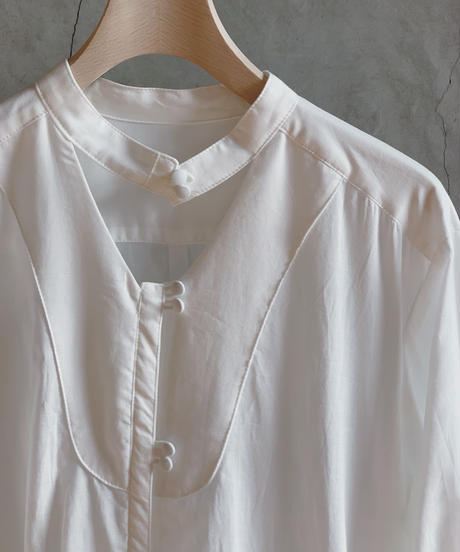 lawn basic shirt one-piece (white) <20as-on-01-wh>