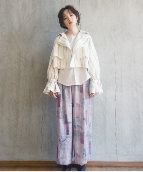 seasonal letter soft gather pants