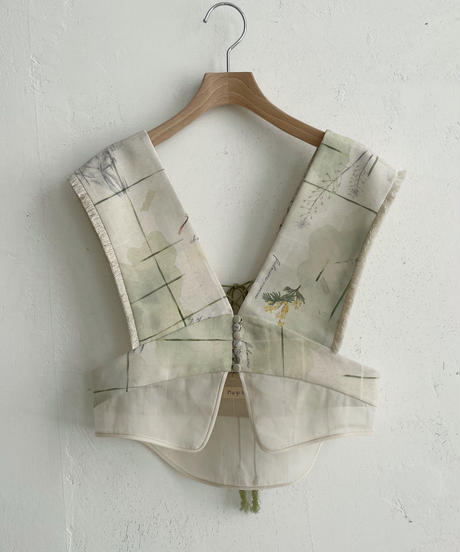 row button layered bustier (flow of time)