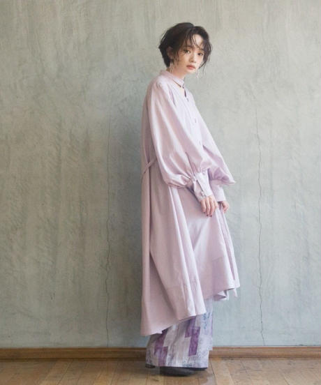 lawn basic shirt one-piece (cassis pink) <20as-on-01-ca>