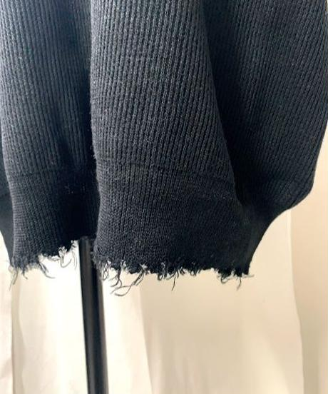 【re stock】damege big knit vest (black)