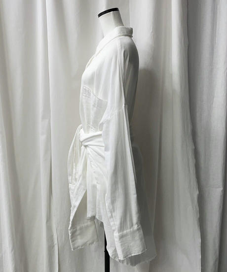 gauze big 3way shirts(offwhite)