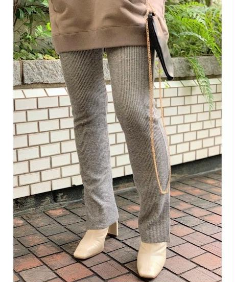 corduroy touch leggings  (gray)