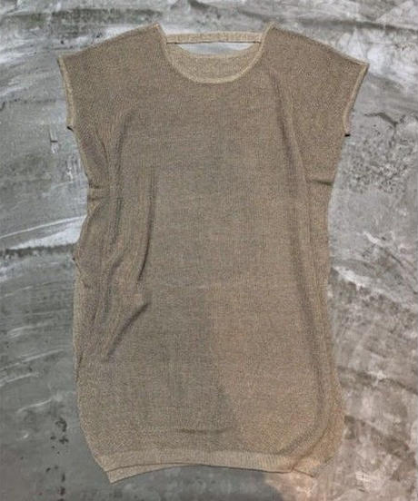 linen knit dress  (sand beige)