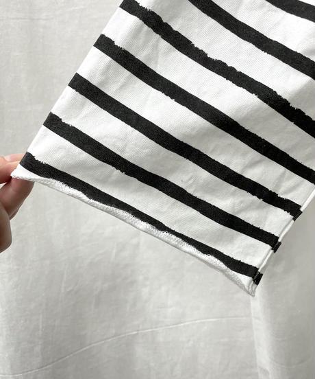 big border print T(black)