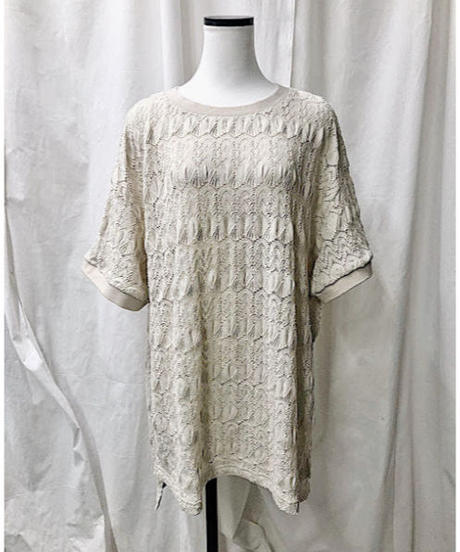 lace Tee  (ivory)