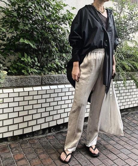 【予約商品】satin  pants  (silver)