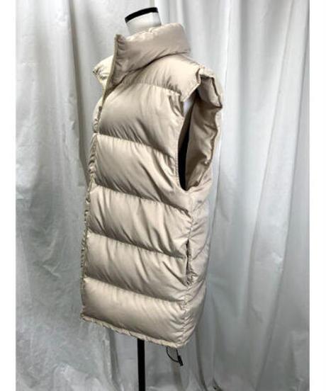 power shoulder down vest (ivory)