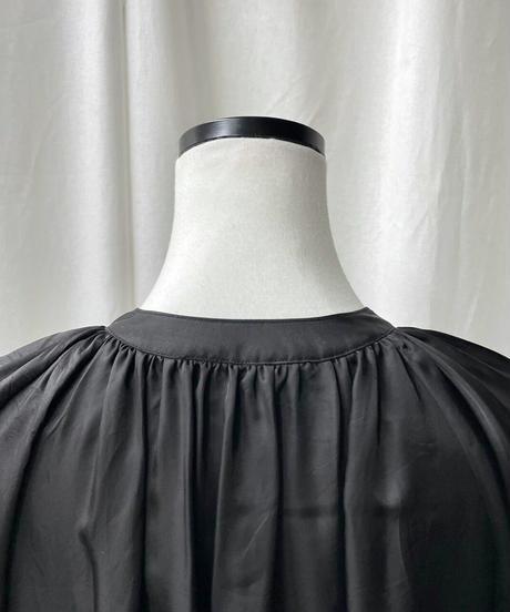 cupra gather long dress(black)