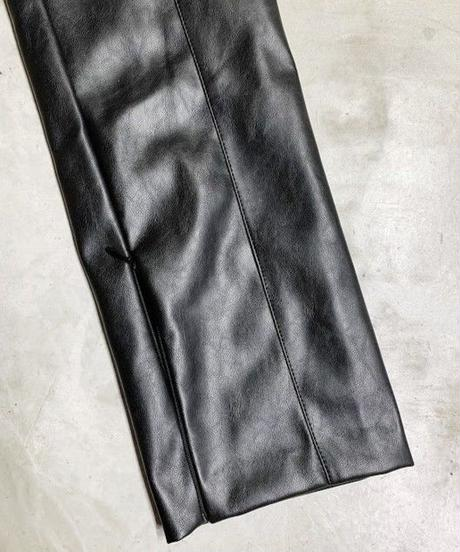 fake leater  pants (black)