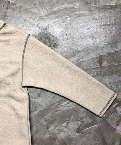 contrast stitch pull over (off white)