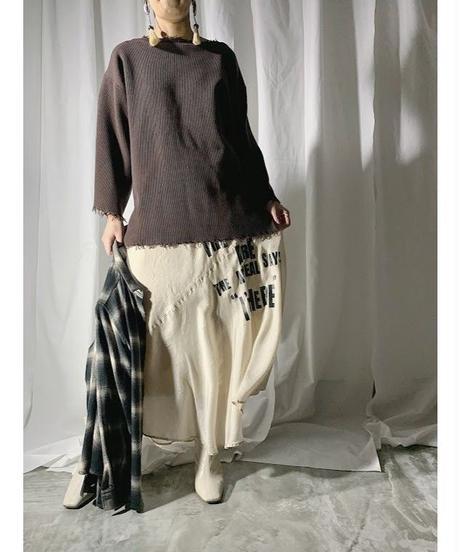 damage knit(brown)