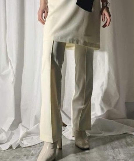 center seam side slite pants (ivory)